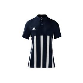 Polo Homme Mi team adidas bleu rayé