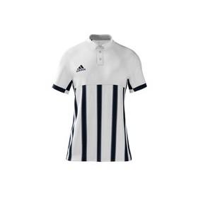 Polo Homme Mi team adidas Blanc rayé