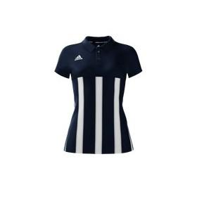 Polo Femme Mi team adidas Bleu rayé